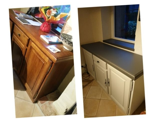 Relooking meuble bois cuisine