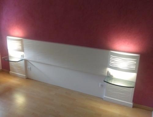 Tête de lit en Staff avec Mur en Stucké